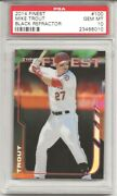 2014 Topps Finest 100 Mike Trout, Black Refractor, 19/99 Psa 10 Perfect
