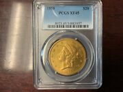1858 Xf45 Pcgs Liberty Double Eagle Type 1 20 Gold Coin Nice Eye Appeal