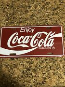 Collectible Enjoy Coca-cola Metal Embossed License Plate 12 X 6