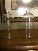 2-clear Glass Hurricane Lamp Shade Replacement