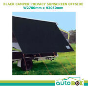 Coast Black 2.78m Kitchen Awning Privacy Sunscreen Shade For Jayco Dove Camper