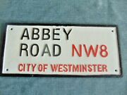 Sign Abbey Road Westminster London England Landmark Plaque Steel Cast Iron Repo