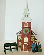 Dept 56 Heritage Village Old North Church Plus People And Bench Snow Village Lot