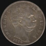 1879 R Italy Umberto I Silver 5 Lire Coin   European Coins   Pennies2pounds