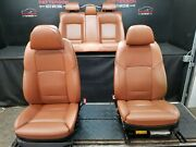2011 Bmw 750li Alpina B7 Front Power Bucket And Rear Leather Seats Brown Nad5