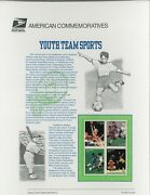 Usps Festschrift Panel 605 Youth Team Sports 3399-3402