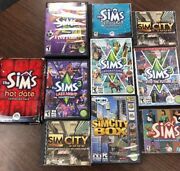 The Sims 1, 2 ,3 And Expansion Packs Pc/mac Bundle/10 Computer Game Lot