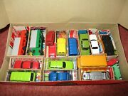 Box Of Plastic Toy Cars - Continental - Approx Ho Railway Size