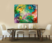 Hand Painted Abstract Painting Acrylic On Canvas Modern Wall Art Celebration
