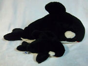 Sea World 1986 Orca Whale 22 Mother And Calf Plush Soft Toy Stuffed Animal