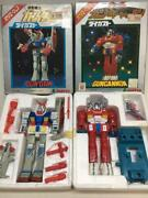 Used 1970 Clover Variation Figure Gundam And Gun Cannon Die Casting With Box