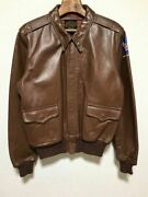 Used The Real Mccoyand039s Flight Jacket Horsehide Brown Color Size 40 Type A-2