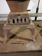 Antique - Small Cast Iron Atlantic Stove Works Pot Belly Coal Or Wood Stove