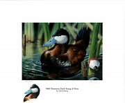 Minnesota 26 2003 Duck Stamp Print By John Freiberg Color Remarque + 2 Stamps