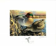 Minnesota 23 1999 Duck Stamp Print By John House Remarque + 2 Stamps