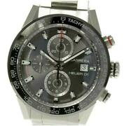 Tag Heuer Carrera Caliber Heuer 01 Automatic Stainless Gray Menand039s Watch[b0525]
