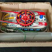 Topre Tps Vintage Tinplate Model Toys Space Hovercraft With Box From Japan 0n
