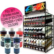 Jacquard Pinata Alcohol Inks 29 Bottles 118ml Glass Resin Art Wood Clay Leather