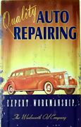 Quality Auto Repair Painting Body Shop Metal Sign Wadsworth Oil Company Packard
