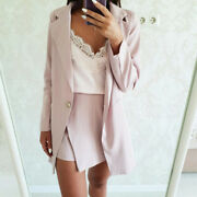 Two Pieces Skirt And Jackets Suits ,striped Blazer Jackets And Slim Mini Skirt