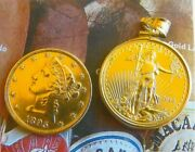 Gold Silver Special 5 And 10 Gold Coin And Proof National Bassball Silver Dollar