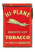Rare 1930s High Plane Litho Hinged Pocket 1 1/2oz Tobacco Tin In Exc Cond