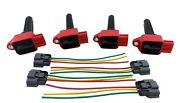 4 Performance Ignition Coils Wire Harness For 08+ Lancer Evolution X Evo 10 2.0l
