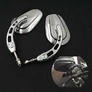Chrome Motorcycle Rearview Mirrors For Harley Davidson Heritage Softail Fatboy A