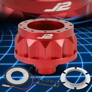 J2 For 92-01 Civic Integra 6-hole Red Steering Wheel Hub Adapter Replacement