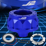 J2 For 92-01 Civic Integra 6-hole Blue Steering Wheel Hub Adapter Replacement