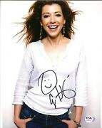 Alyson Hannigan Signed 8x10 Photo Buffy, How I Met Your Mother Psa Dna