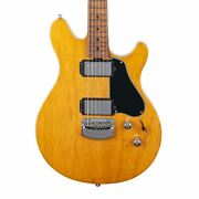 Ernie Ball Music Man Valentine Hardtail - Classic Natural With Figured Roasted M
