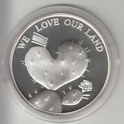 58th Israel Independence Day, We Love Our Land Official Medal 50mm 49g Silver 2