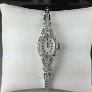 14k White Gold 17 Jewel Croton Womenand039s Watch With 70 Single And Full Cut Diamonds
