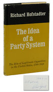 The Idea Of A Party System Richard Hofstadter Signed First Edition 1969 1st