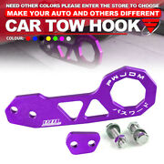 Universal Purple Jdm Style Aluminum Alloy Racing Car Rear Tow Hook For All Cars