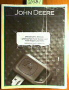 John Deere Greenstar Yield Monitor And Yield Mapping Systems Operator Manual 3/04
