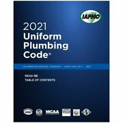 2021 Uniform Plumbing Code Book In Soft Cover - New