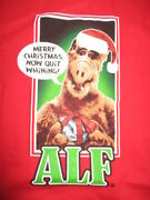 Vintage Alf Merry Christmas Now Quit Whining Xl T-shirt W/ Tags