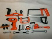 Childs Black And Decker Tool Set 18 Piece Play Workshop Tool Set