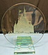Walt Disney World Where Your Dreams Come True Large Collectible Etched Plate