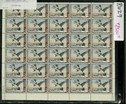 Rw29 1962 Full Federal Duck Stamp Sheet. Very Scarce .