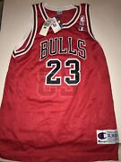 Vintage 90s Michael Jordan Bulls Replica Un Signed Jersey New With Tags Youth Xl