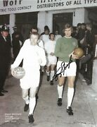 Gary Sprake Leeds United Walking Out To The Pitch Signed Photo