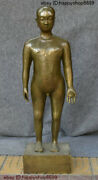 Collect Ancient Medicine China Bronze People Hospital Human Body Acupoint Statue