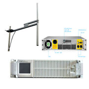 Fmt5.0 500w/600w Fm Transmitter Radio Station Dipole Antenna With 30m Cable Kit