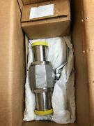 Hydac Tech 02700847 And Valve Ball Stainless Steel Body 872630