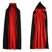 Kids Hooded Witch Wizard Vampires Cloak Cosplay Costume Cape Gown Robe Props