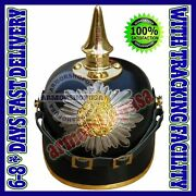 Wwi German Pickelhaube Prussian Leather Helmet - Officer Militaria Collectible