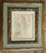 Well Listed Artist - William Edwin Fager - Watercolor And Pencil On Board Man